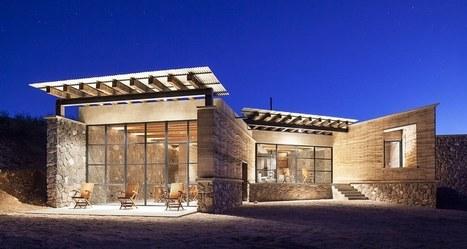 Superbe maison contemporaine en pierre - Maison en pierre giordano hadamik architects ...