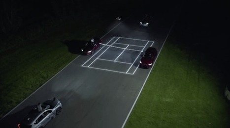 Mazda creates a tennis court in motion projected by a drone   Cin Fikir   Scoop.it