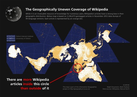 The Geographically Uneven Coverage of Wikipedia | Geography Education | Scoop.it