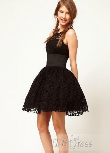 Lovely Sleeveless Lace Bubble Short Length Dress | beauty&fashion clothing | Scoop.it