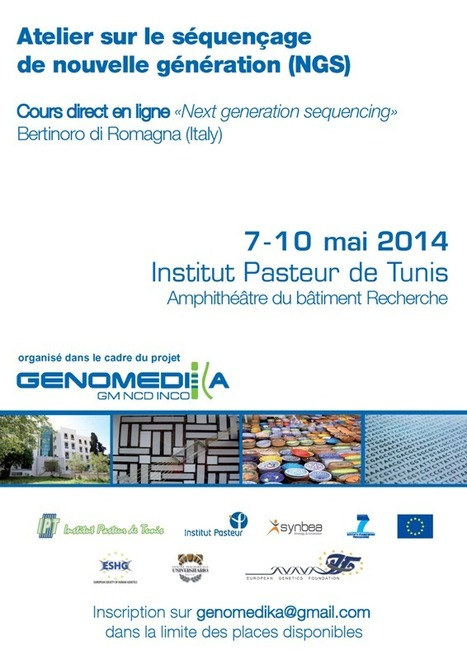 Retransmission à l'IPT du 3rd COURSE IN NEXT GENERATION SEQUENCING Bertinoro di Romagna (Italy), May 7-10, 2014, dans | Genomedika | Scoop.it