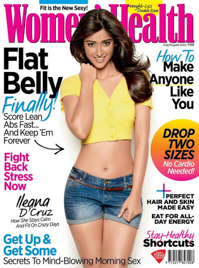 Ileana D'Cruz On The Cover Page of Women's Health Magazine | 5abi Raag | Blogger Tricks, Blog Templates, Widgets | Scoop.it