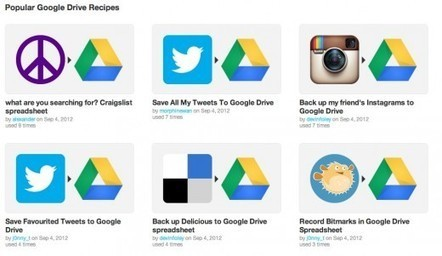 IFTTT launches Google Drive channel to let you automatically save data like Tweets, photos and more | Online Marketing Resources | Scoop.it