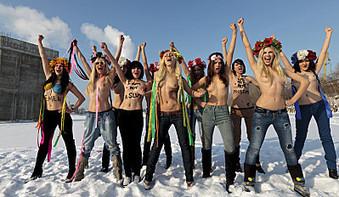 Buzz: Les Femen topless pour feter le depart de Benoît XVI !!! (video) | cotentin webradio Buzz,peoples,news ! | Scoop.it