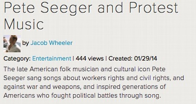 Pete Seeger and Protest Music | K-12 Web Resources - History & Social Studies | Scoop.it