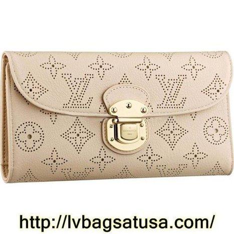 Louis Vuitton Amelia Wallet Mahina Leather M58131 | Cheap Sale Louis Vuitton Factory Outlet Online | Scoop.it