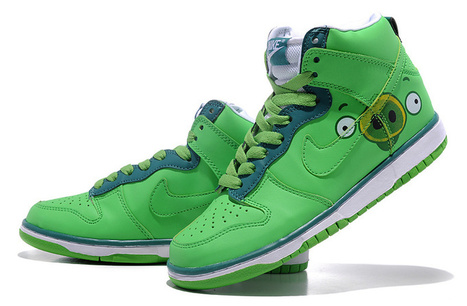 Piggies Nike Dunk Angry Birds Games Shoes - Angry Birds Nikes, Nikes Superman,Super Mario Nike : Nike High Tops Transformers Mario Mickey Minnie Mouse Nike Dunk shoes for sale, If you like these cu... | Superman Nike Shoes Superhero Dunks | Scoop.it