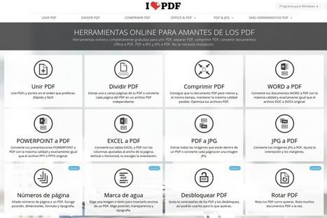 Herramientas online para trabajar con documentos .PDF — ParaPNTE | Educacion, ecologia y TIC | Scoop.it