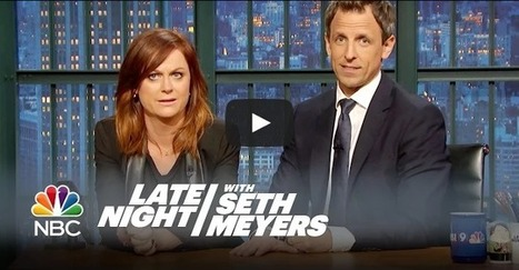 """Amy Poehler and Seth Meyers reunite to say """"Really!?!"""" to sexist sports fans 