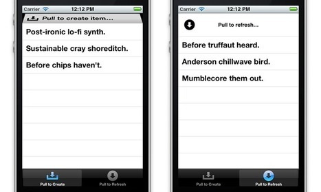 Clean, versatile pull gesture for iOS perfectionists. | Mobile Technology | Scoop.it