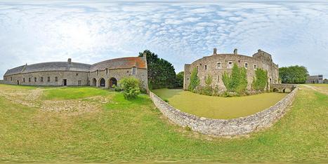 Les douves du château de Pirou - France par Pascal Moulin Photographe - Panorama 360x 180° | moulin360panoramic | Scoop.it