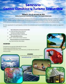 Colombia / Medellin: Seminario Turismo Sostenible y Cambio Climático   PRODUCCIÓN MÁS LIMPIA   Scoop.it
