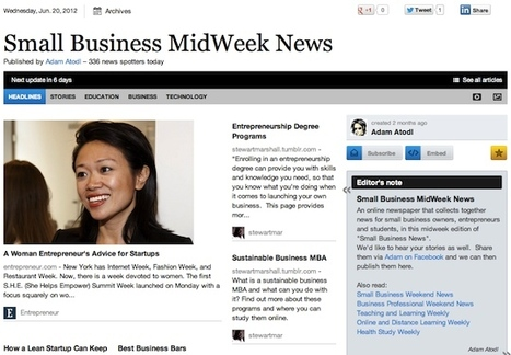 June 20 - Small Business MidWeek News | Business Futures | Scoop.it
