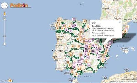 Positrén, un mashup de Google Maps que geolocaliza trenes sobre ... - Lukor | Nuevas Geografías | Scoop.it