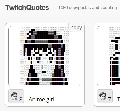 ASCII Art Copypasta | TwitchQuotes | ASCII Art | Scoop.it