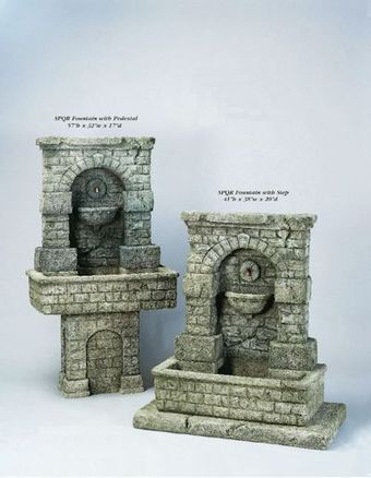 Exalted Fountains | SPQR with Pedestal & SPQR with Step Fountains | Garden Fountains Are Wonderful | Scoop.it