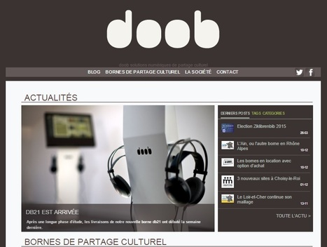 doob : solutions numériques de partage culturel | bib on web | Scoop.it