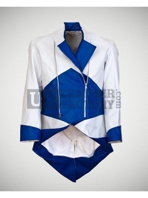 Assassins Creed III Conner Synthetic PU Kenway Video Game Blue White Leather Jacket | Leather Jacket Stylish | Scoop.it