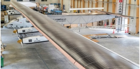 Cet incroyable avion solaire qui va faire le tour du monde - Challenges.fr | Engins de chantier et grues | Scoop.it