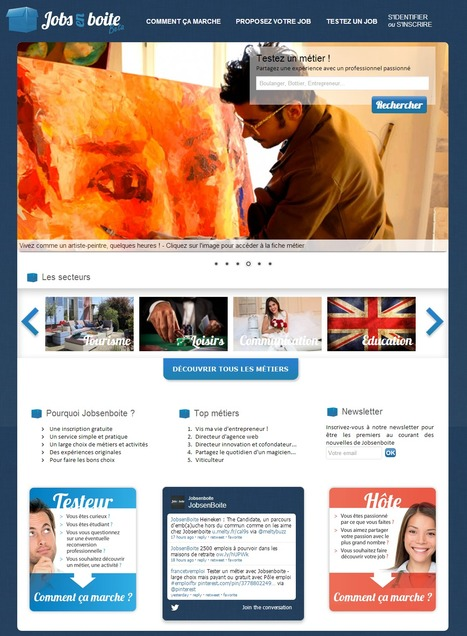 Vous voulez changer de métier, testez-en plusieurs | Jobsenboite.com | Time to Learn | Scoop.it