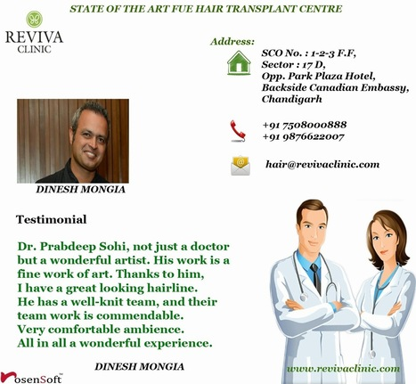 FUE Hair Transplantation Cost India | Hair Transplant Clinic in India - Reviva Clinic | Scoop.it