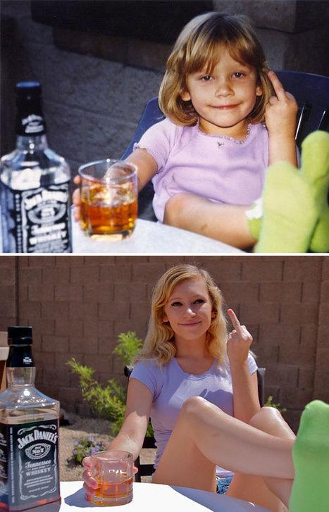 Avant et après, ils ont posé à nouveau comme sur leur photo d'enfance - Image | Geekeries & Langues de puce | Scoop.it