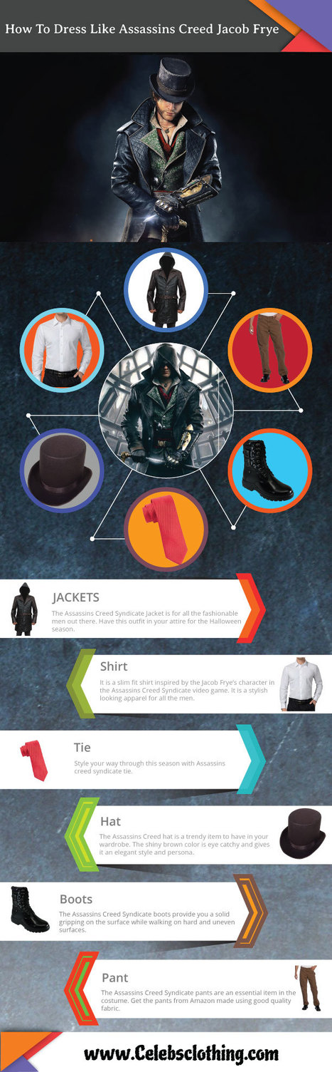 DIY Assassins Creed Syndicate Jacob Frye Costume - Infographics | celebrities Leather Jackets | Scoop.it