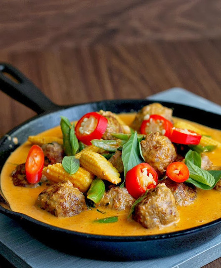 #RECIPE - Red Thai meatball curry   Curry   Scoop.it