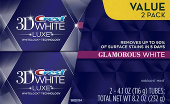 Crest 3d White Luxe Glamorous White Whitening Toothpaste Twin Pack ~ badbreathvideo.com | Bad breath | Scoop.it