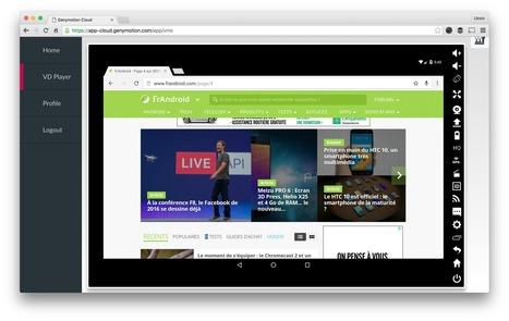 Genymotion Cloud, l'émulateur cloud Android conçu avec amour - FrAndroid | Freewares | Scoop.it