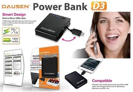 แบตเตอรี่สำรอง Dausen Power Bank D3 1800mAh - Black | GoodShopHere.com | แบตเตอรี่สํารองราคาถูก | Scoop.it