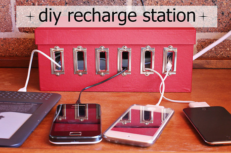 {diy} Tuesday - Recharge Station For All Of Your Devices | Digging on the Digital: Libraries, iPads & Learning Technology | Scoop.it
