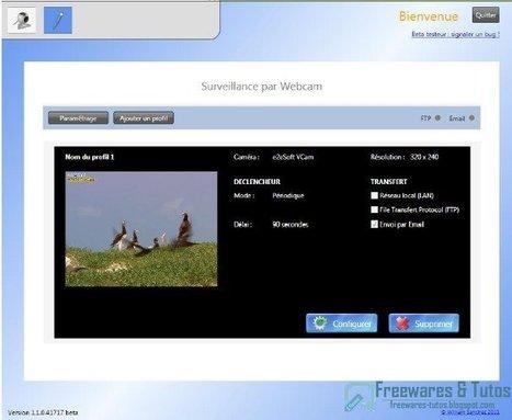 Home : un logiciel gratuit pour surveiller votre domicile à l'aide de votre webcam   Time to Learn   Scoop.it