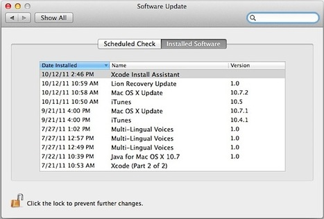 Check What Software Updates Have Been Installed in Mac OS X | All Things Mac | Scoop.it