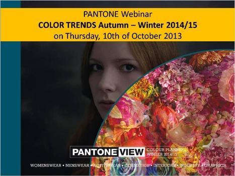 PANTONE Trend Colours Autumn/Winter 2014/15 (English) | Color Strategy | Scoop.it