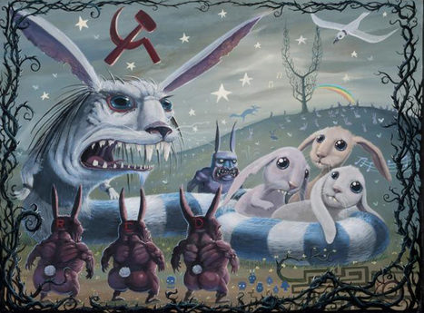 Flavorwire » Grim Reaper Rabbits: Art Inspired by Watership Down | Read Ye, Read Ye | Scoop.it