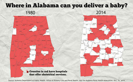 Many Alabama women drive 50+ miles to deliver their babies as more hospitals shutter L&D departments | Regional Geography | Scoop.it