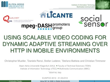 Using Scalable Video Coding for Dynamic Adaptive Streaming over HTTP in ...