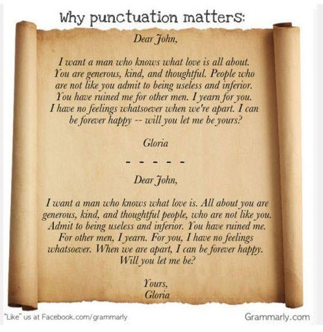 Why punctuation matters. A classic! courtesy of www.facebook.com/grammarly | Primary Education Resources and Ideas | Scoop.it