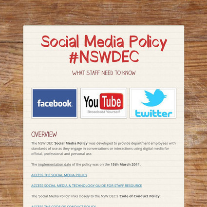 Social Media Policy #NSWDEC | Hogan's Learning Links | Scoop.it