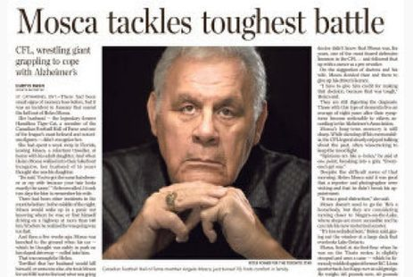 Angelo Mosca's Alzheimer's diagnosis has other players seeking help   Toronto Star   Wright & Associates Insights Newsletter   Scoop.it
