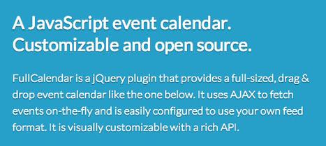 FullCalendar - JavaScript Event Calendar (jQuery plugin) | Web UX Links | Scoop.it