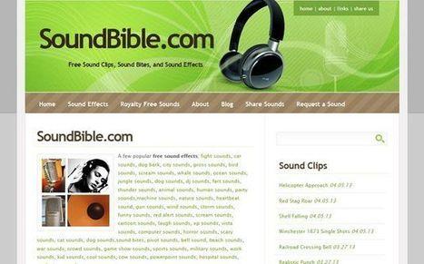 SoundBible, gran colección de sonidos y efectos de sonido gratuitos para descargar   Las TIC en el aula de ELE   Scoop.it