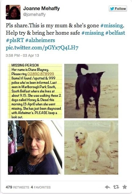 The Power Of Twitter: The Tweet That Found Missing Alzheimer's Woman