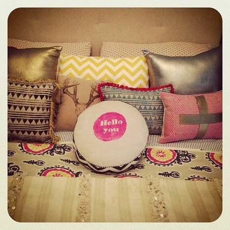 Cushion Spot: Hello You from Coco and Milo | Designer Cushions | Scoop.it