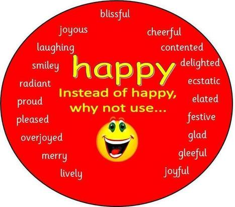Happy different ways to say happy | education | Scoop.it