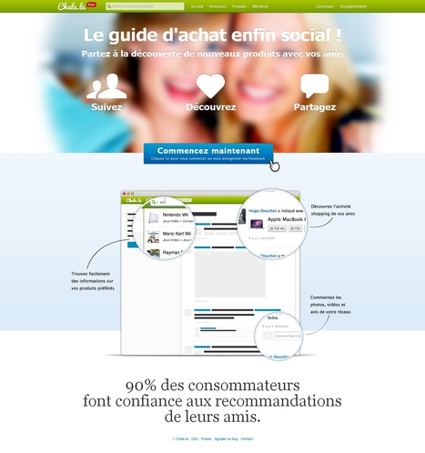 Chala.la - Le guide d'achat enfin social ! | Time to Learn | Scoop.it