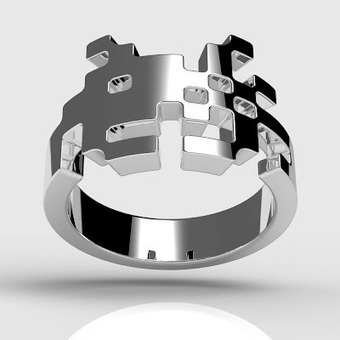 Sterling Silver Space Invaders Rings In Three Styles For Men and Women by Tjep. | Mydailymood | Scoop.it