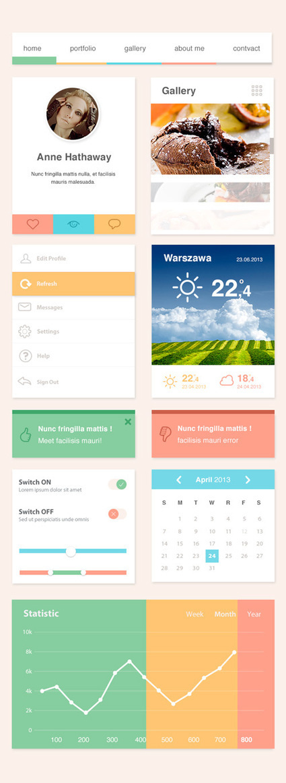 Creative Flat UI Kits for Designers   Graphics Design   Design Blog   Smad IT - UX & Web Design   Scoop.it