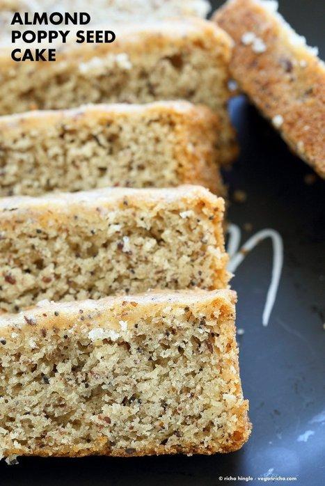 Vegan Almond Poppy Seed Cake. Gluten free Cake - Vegan Richa   Vegan Food   Scoop.it